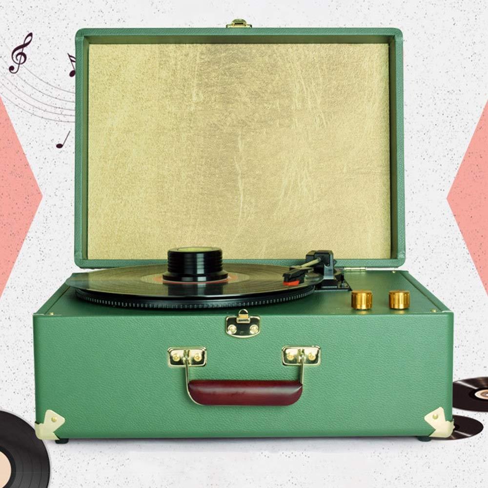 Zzyff Máquina Tocadiscos De Vinilo LP Verde Moderna Canto Clásico ...