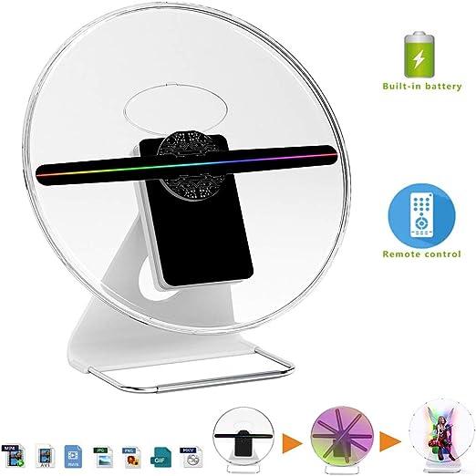 QLPP Ventilador holográfico 3D, Holograma Pantalla Digital Foto ...