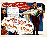Holiday Affair Robert Mitchum Janet Leigh Wendell Corey Gordon Gebert 1949 Movie Poster Masterprint (14 x 11)