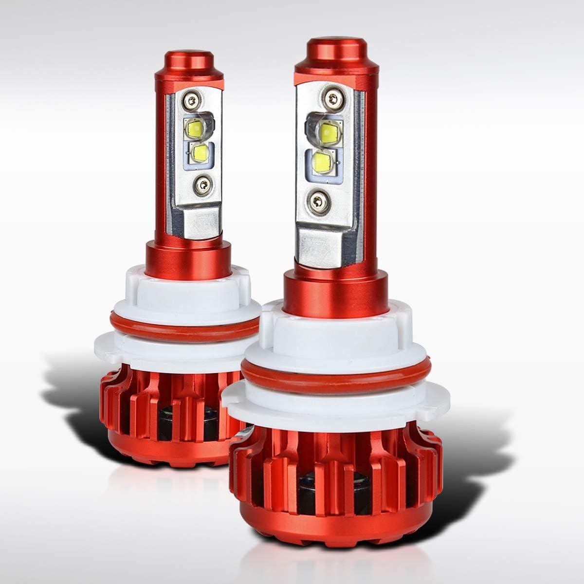 Cree LED Headlight Kit 9005 HB3 H10 9140 9145 1200W 6000K 180000LM Bulbs Pair