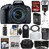 Canon EOS Rebel T7i Digital SLR Camera & EF-S 18-135mm is STM Lens 64GB Card + Case + Flash + Battery & Charger + Tripod + Filters Kit