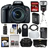 Canon EOS Rebel T7i Digital SLR Camera & EF-S 18-135mm is STM Lens with 64GB Card + Case + Flash + Battery & Charger + Tripod + Filters Kit