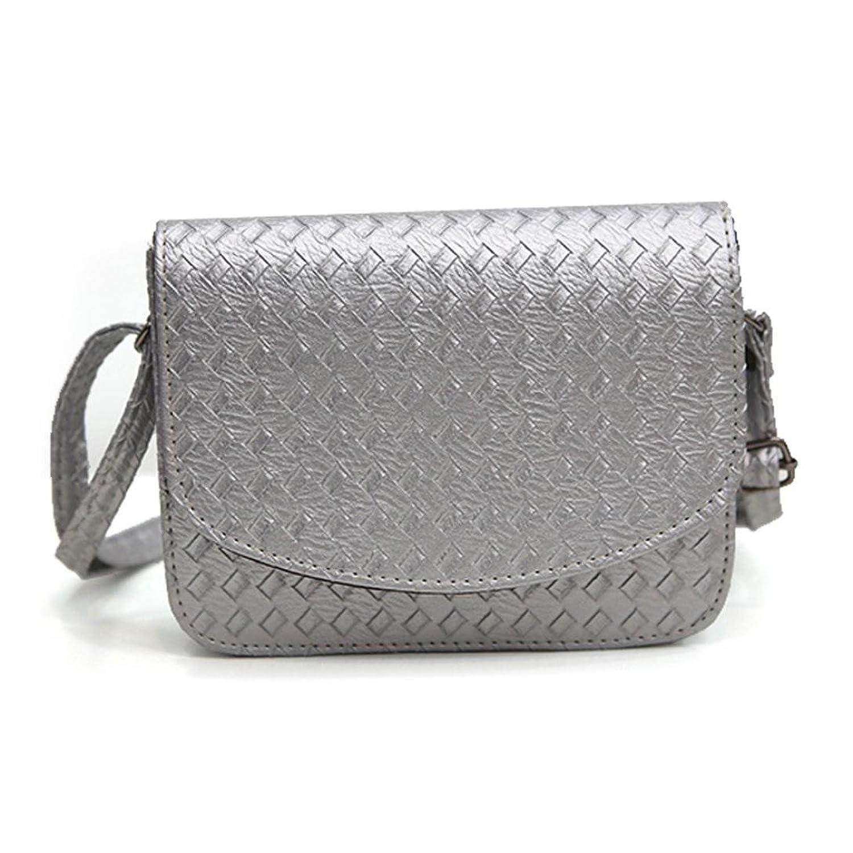 GBSELL Women Girl Shoulder Bag Faux Leather Satchel Crossbody Weave Tote Handbag