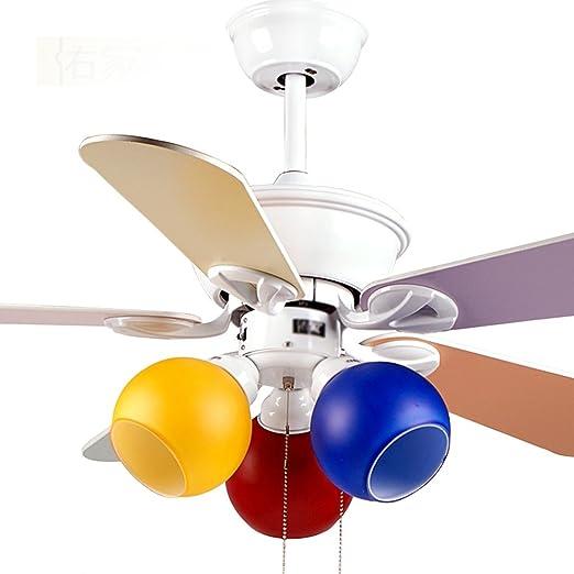 Liuyu · Ventilador de Techo para niños Luces de Color Fan Lámpara ...