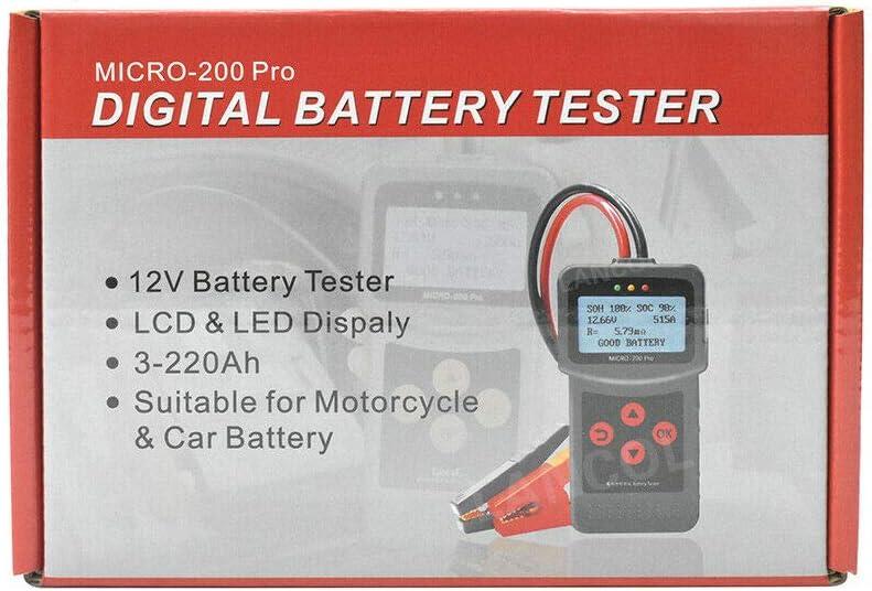 Tester per batteria auto moto per camion rileva direttamente le cellule non corrette analizzatore di batteria per auto 12 V//24 V