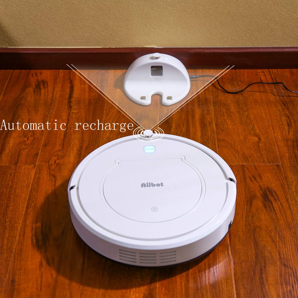 Glumes Smart Robotic Vacuum, Pet Hair Care, Powerful Suction Tangle-free, Super Quiet, Slim Design, Auto Charge, Daily Planning, Good For Hard Floor and Low Pile Carpet Ideal Gift BF Sales (Ship from US!) (white) by Glumes (Image #9)