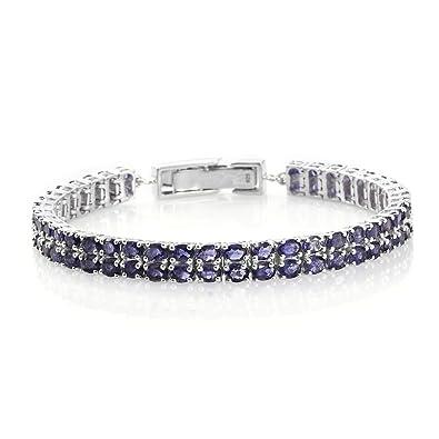 Iolite Bracelet in Platinum Overlay Sterling Silver 12.25 Ct YJ2hVCxN