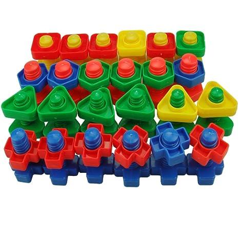 TOYMYTOY Juguetes Montessori para Bebes Juguetes para Apilar y Encajar