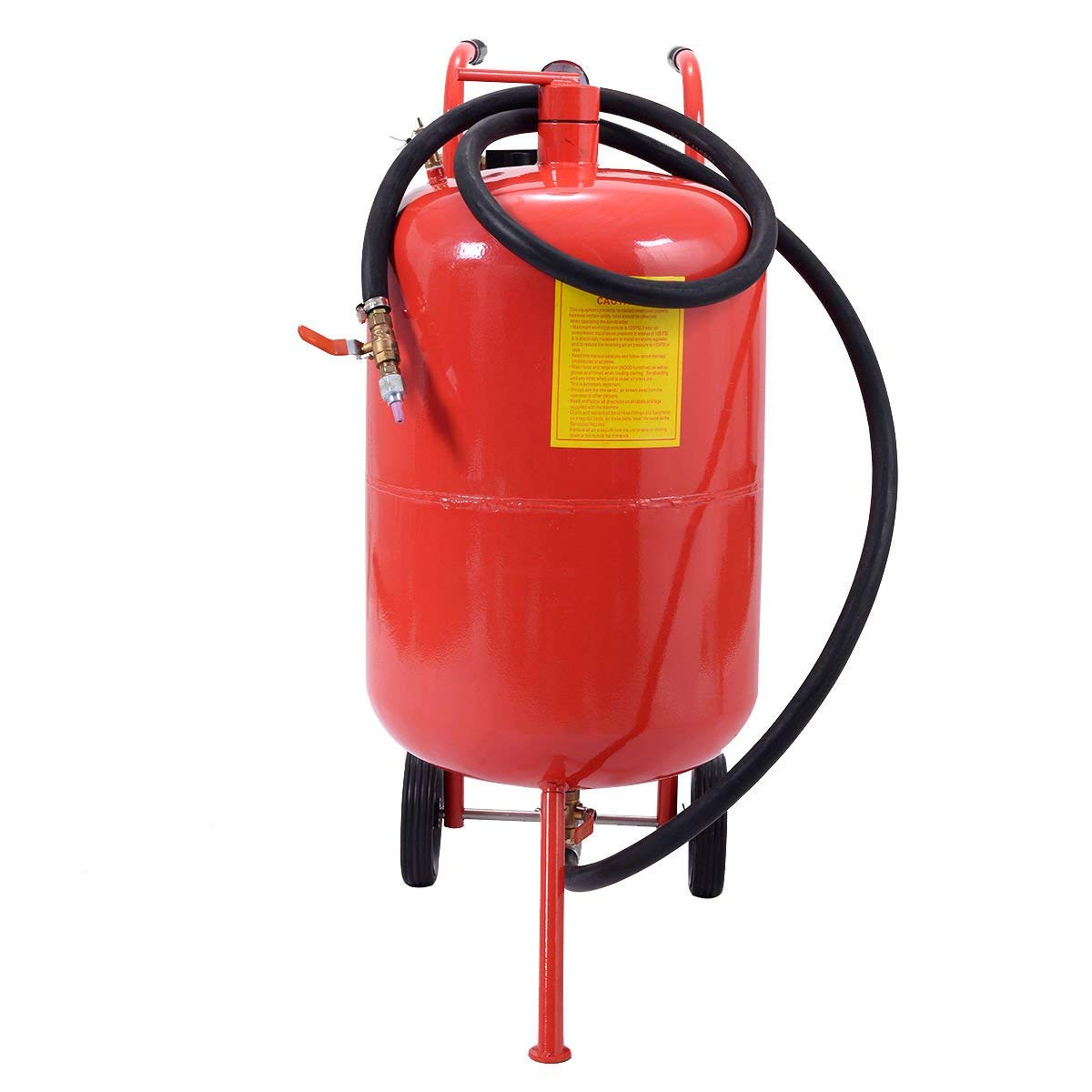 Goplus Portable Air Sandblaster Sand Blaster 20 Gallon Air Media Abrasive Blasting Tank