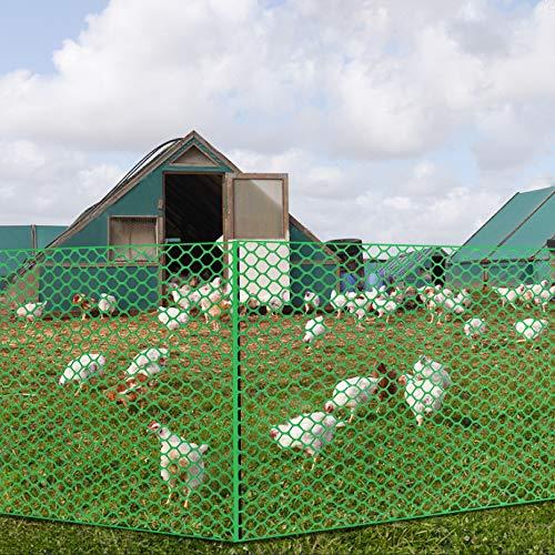 V Protek 4x30ft Plastic Poultry Fence Poultry Netting, Chicken Net Fence,Green