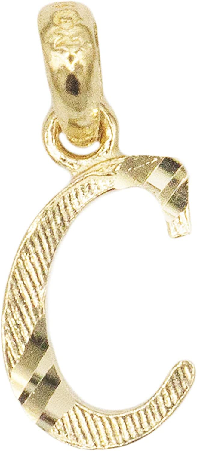 Details about  /Real 14kt Yellow Gold Initial L Charm