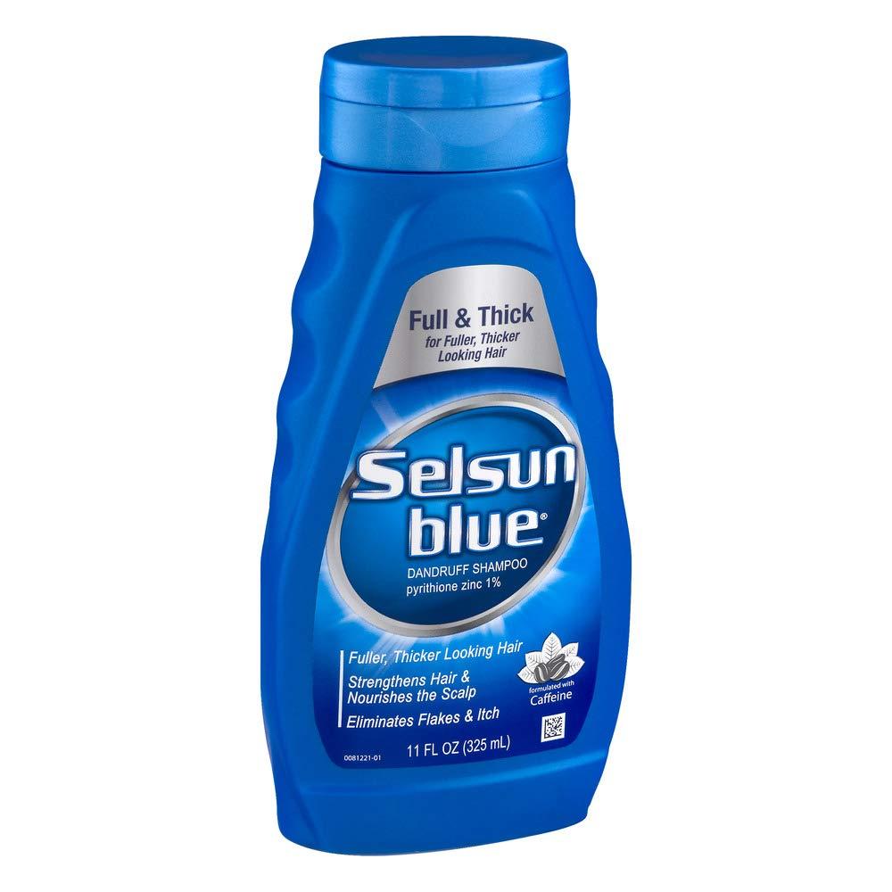 Selsun Blue Shampoo Dandruff For Fuller/Thicker Hair 11 Ounce (325ml) (2 Pack)