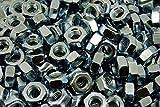 (300) M10-1.5 Metric Hex Nuts Class 10 Zinc 10mm DIN 934