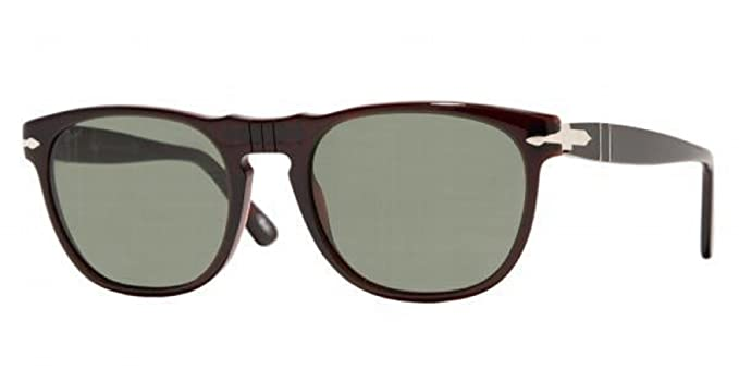 7a1d161299 Persol PO 2869S 685 31 BLACK   DARK RED Sunglasses GREY LENS  Amazon.co.uk   Clothing
