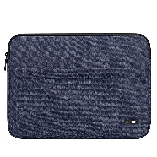 Plemo Laptophülle Hülle Tasche Sleeve Schutzhülle für 15 - 15,6 Zoll Laptop / MacBook Air / MacBook Pro / Notebook-Computer, Denimblau