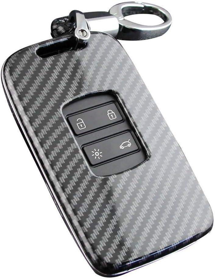 ABS Carbon Fiber Key Fob Cover Silicone Car Key Cover Key Case Car Keychain Accessories For Renault Koleos Kadjar Megane