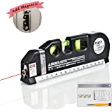Laser Level, Self Leveling Laser Multipurpose Level Laser Tool Add Magnetic 8ft Measuring Tape Adjusted Standard And Metric Ruler