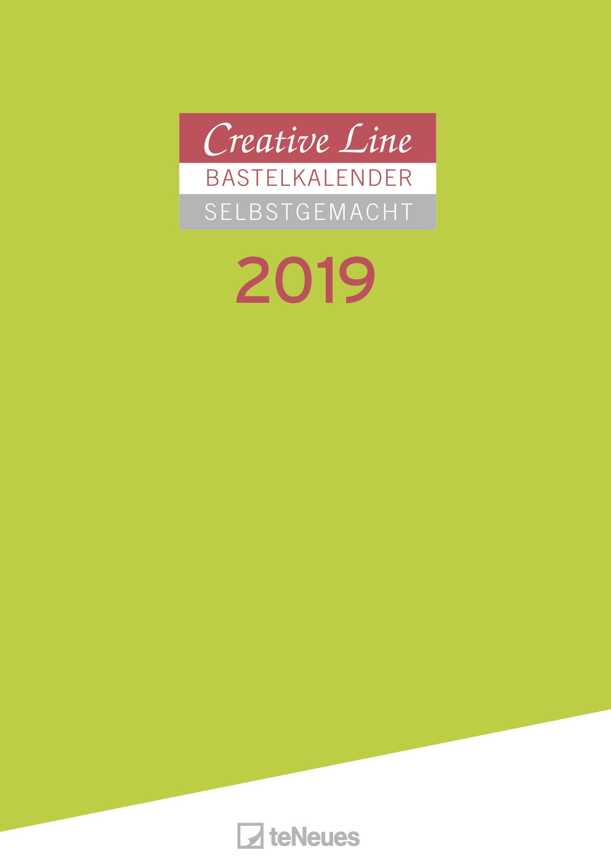 Bastelkalender 2019 Selbstgemacht - Malkalender, Do-it-yourself Kalender, Wandkalender  -  29,7 x 42 cm