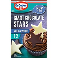 Dr. Oetker Giant Chocolate Stars - 6 Milk chocolate stars and 6 White chocolate stars