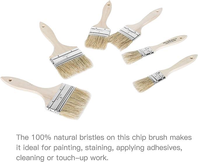 """Lot de 100 1/"""" Chip Pinceaux Brosse Peinture touchups"""