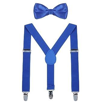 WELROG Conjunto de corbata de moño para niños - Conjunto de ...