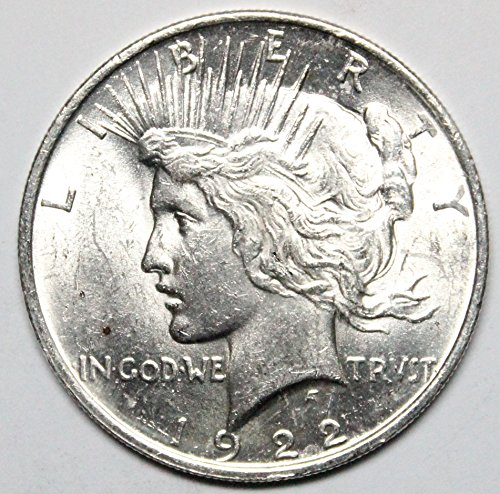 1922 P Peace Silver Dollar $1 Uncirculated