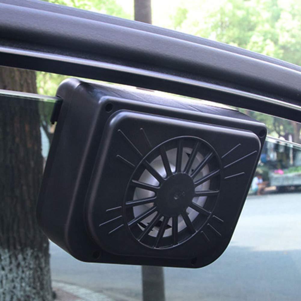 Neborn Auto Solar Powered Auspuff Fan Auto Kiemen K/ühler Auto Bel/üftung Fan Dual-Modus Power Versorgung High-Power