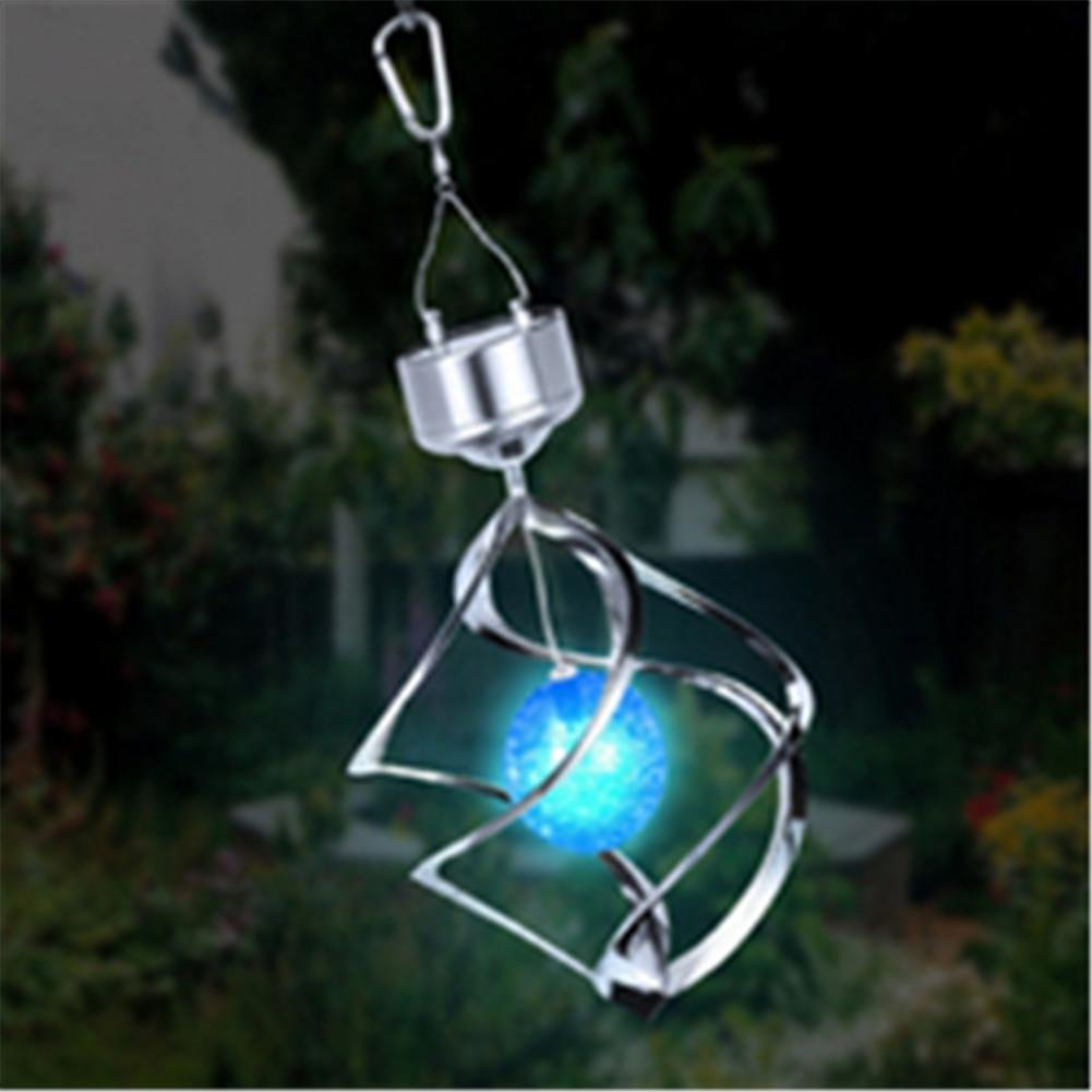 DMMSS Led Solar Wind Chime Light Solar Hanging Lights Garden Lights Garden Decoration Decorative Lights Solar Diamond Lights, 1