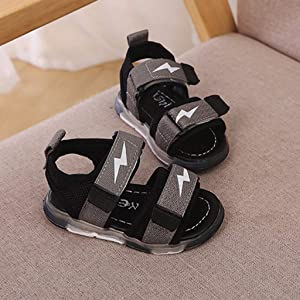 Summer Boy Girl Kid LED Sandals Open Toe Toddler Outdoor Sport Casual Shoes New