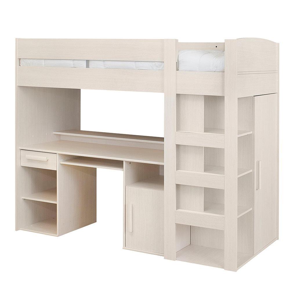 565c10a84b9 Gautier montana mezzanine kids high sleeper bed in bleached ash   Amazon.co.uk  Kitchen   Home