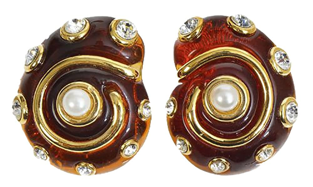 Disfraz de caracol de concha sintética perlas y cristales de clip ...