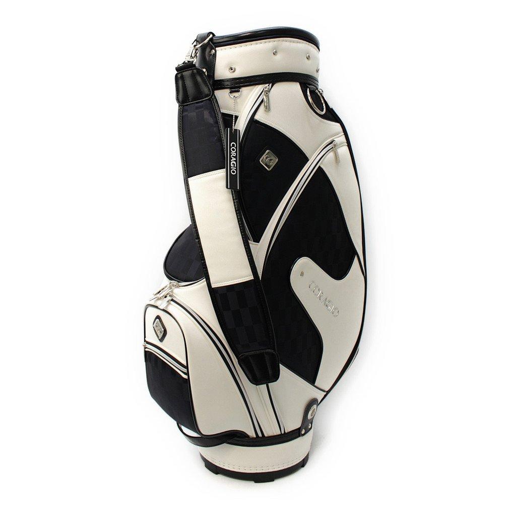 コラッジオ キャディバッグ 9型 メンズ ゴルフ CR-0B1126CB 9 ホワイトXネイビー B0797P7HS3