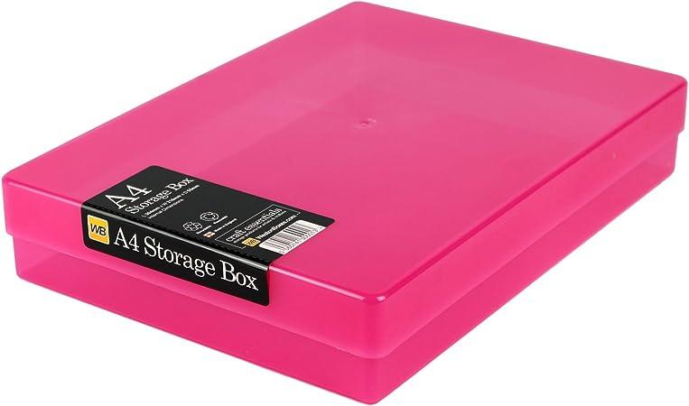 WestonBoxes - Caja de Almacenamiento A4 para papel A4 y Manualidades (Rosado, Paquete de 40): Amazon.es: Hogar