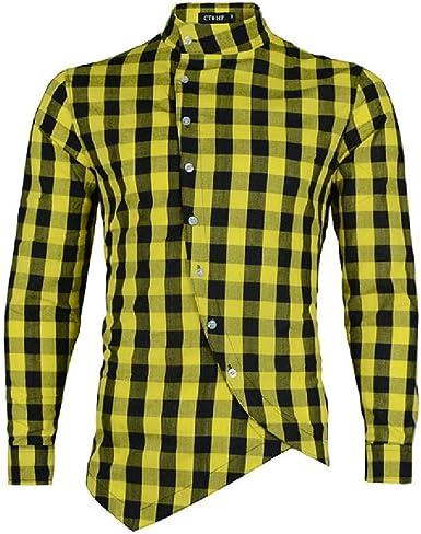 NOBRAND - Camisa de manga larga para hombre, diseño de ...
