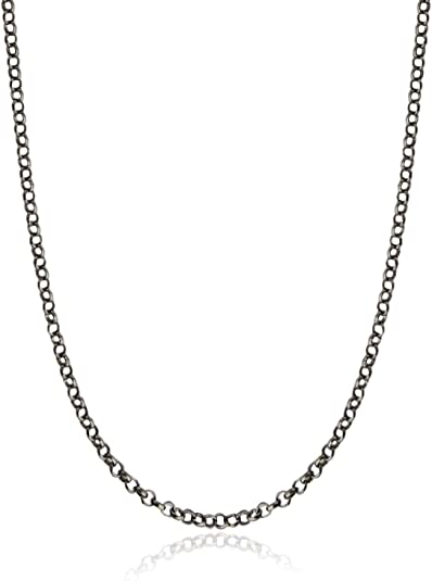 """Jewelry Findings Crafts 24/"""" 50 Dark Black Necklaces 24 Inch Rolo Chain"""