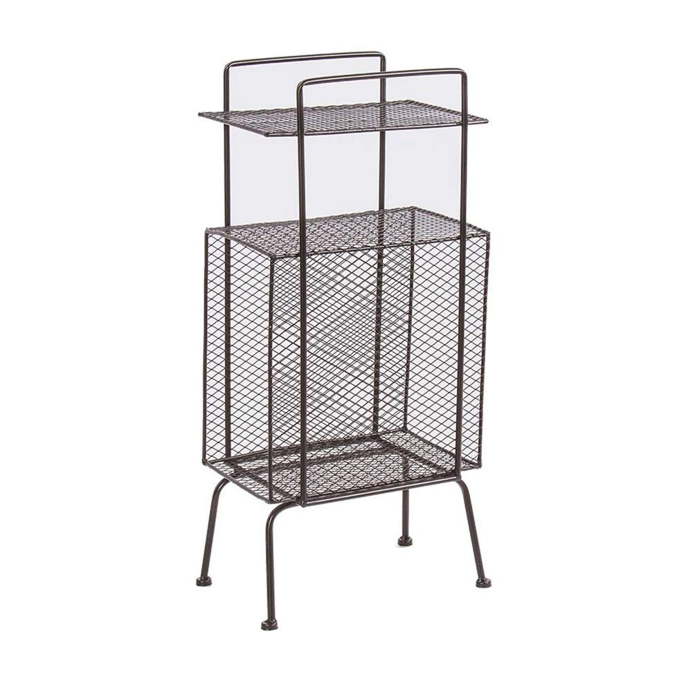 XUERUI オープンシェルフラック マガジンラックアイアンアート本棚リビングルーム新聞展示台コーナー錆びにくい高温塗装面 多機能 (色 : B, サイズ さいず : 32x23x70cm) B07S3LP55P B 32x23x70cm