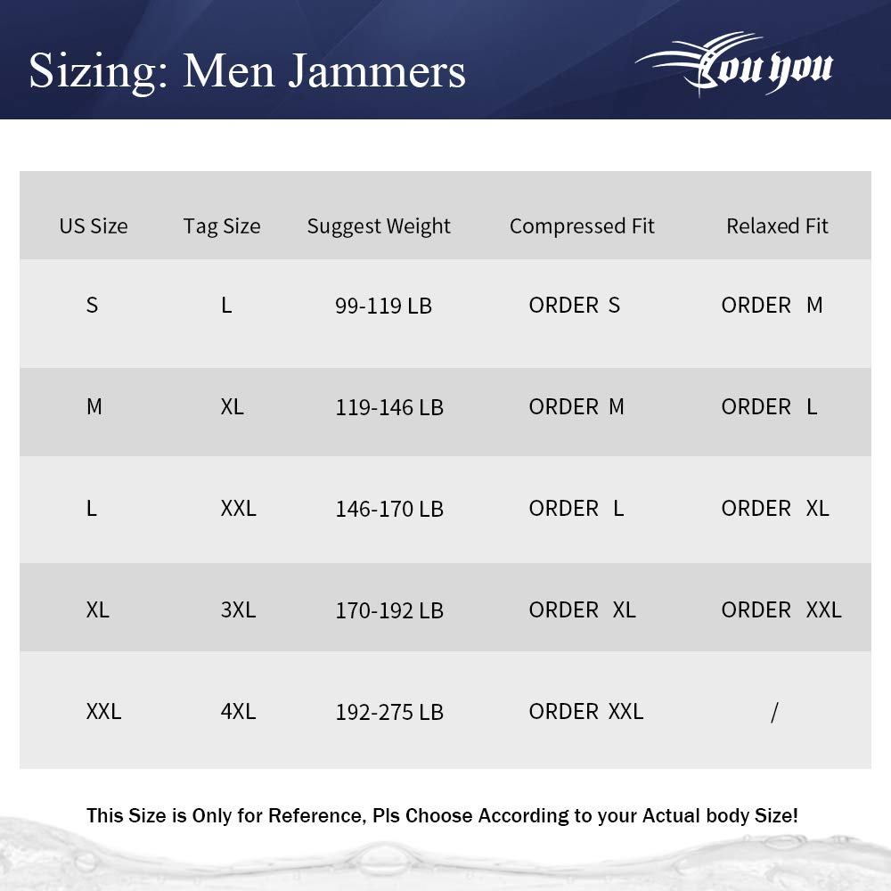 youyou Men/'s Swimsuits Jammers for Men Swimming Trunks for Men Solid Jammer 2.0