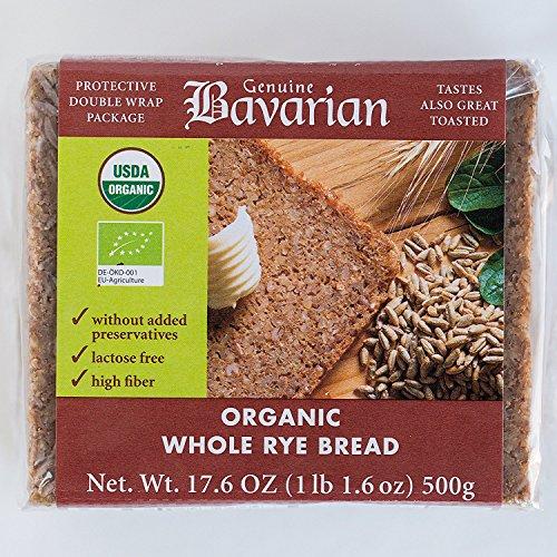 Genuine Bavarian Organic Whole Rye Bread, 17.6 Ounce - 6 per case.