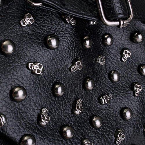 Studded Bag Leather PU Skull Handbag Shoulder Women v7nFqO