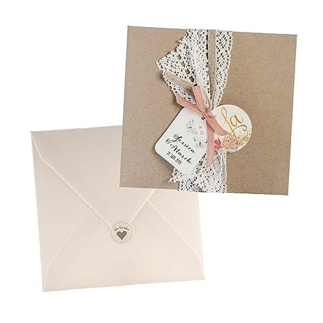 ed065f5481247d Weddix Vintage Einladungskarten Alexandra für die Hochzeit ...