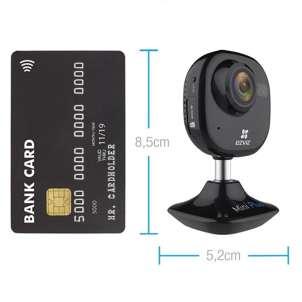 EZVIZ Mini Plus 1080P FHD IP Cámara de Seguridad, 2.4Ghz & 5Ghz Doble Banda WIFI Vídeo Cámara de Vigilancia con Audio Bidireccional, Visión Nocturna, ...