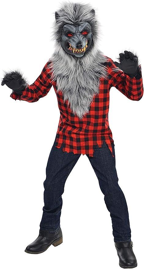 Christys London Disfraz Hombre Lobo para niños y Adolescentes en ...