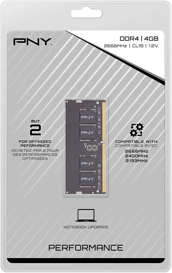 MN4GSD42666 PNY 4GB DDR4 2666MHz Notebook Memory