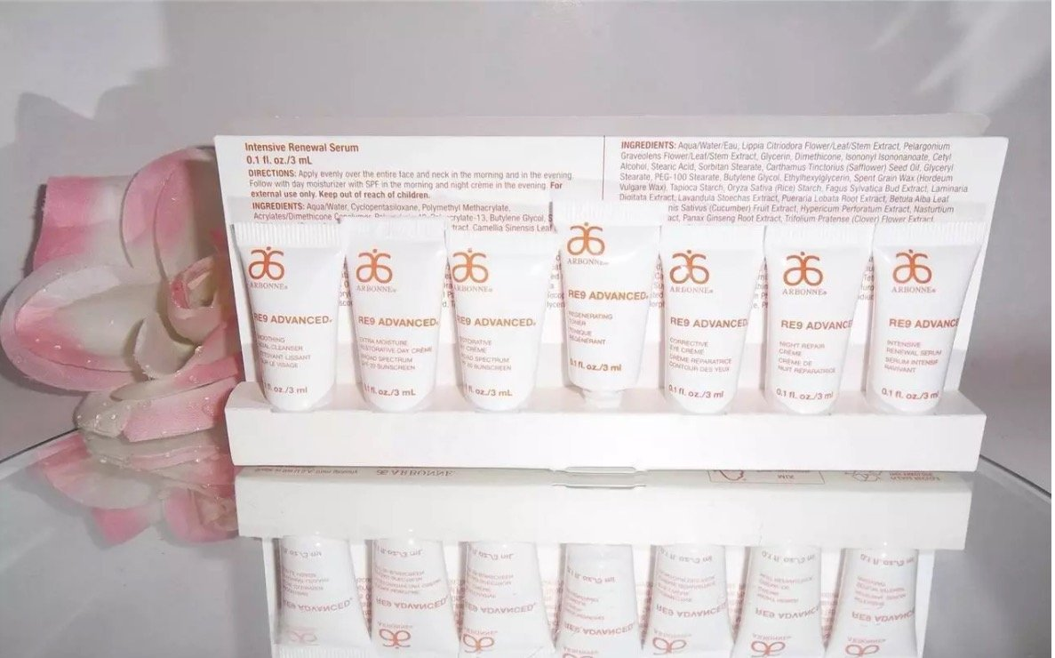 Arbonne Re9 Advanced Anti-aging Skin Care Travel/Sample Set by Arbonne