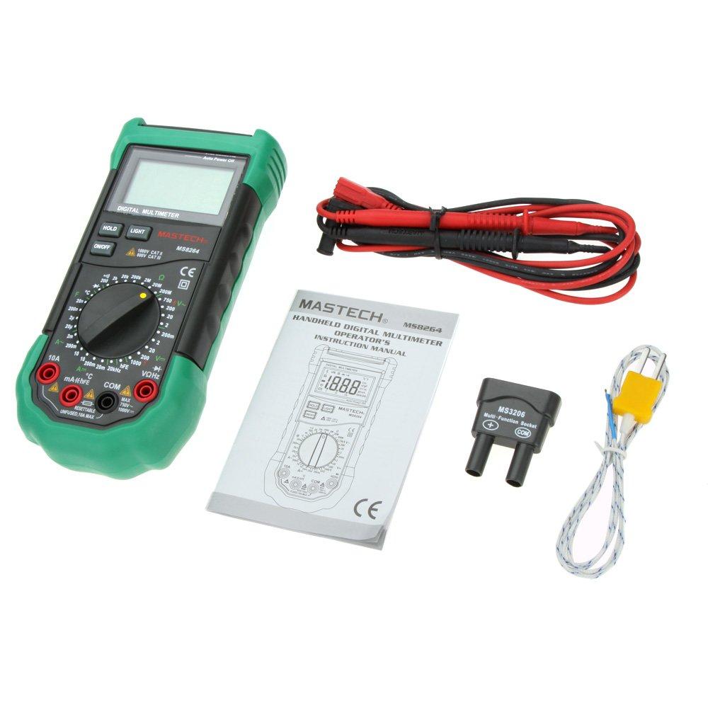 Mastech ms8264 3 1/2 manual range digital multimeter protection.