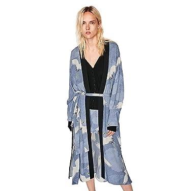 Abrigos Largos Bohemia de Mujeres, Holacha Tops de chal Oversized Estilo Kimono ganso salvaje Impreso