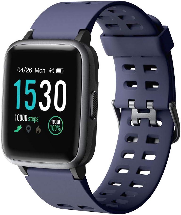 YAMAY Smartwatch, Impermeable Reloj Inteligente con Cronómetro, Pulsera Actividad Inteligente para Deporte, Reloj de Fitness con Podómetro Smartwatch Mujer Hombre niños para Xiaomi HuaweiI Teléfono