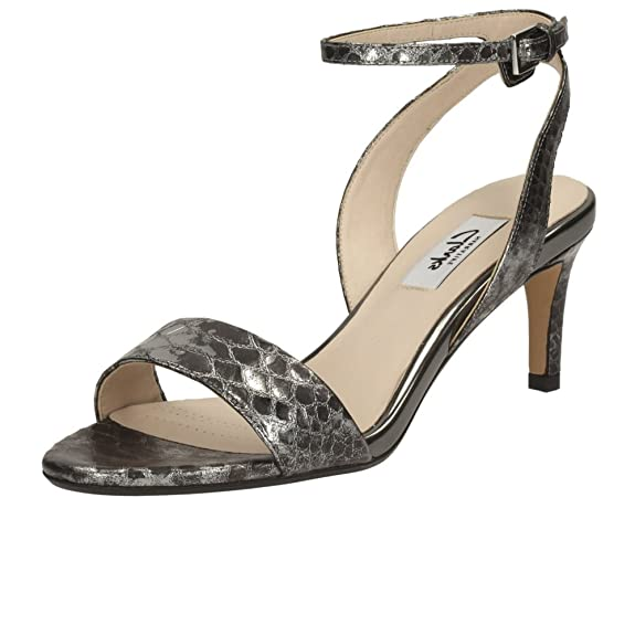Clarks Women's Amali Jewel Leather Fashion Sandals at amazon