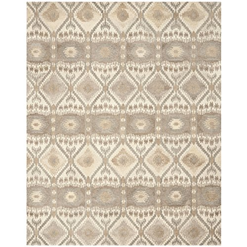 (Safavieh Wyndham Collection WYD720A Handmade Natural and Multi Wool Area Rug, 10 feet by 14 feet (10' x 14'))