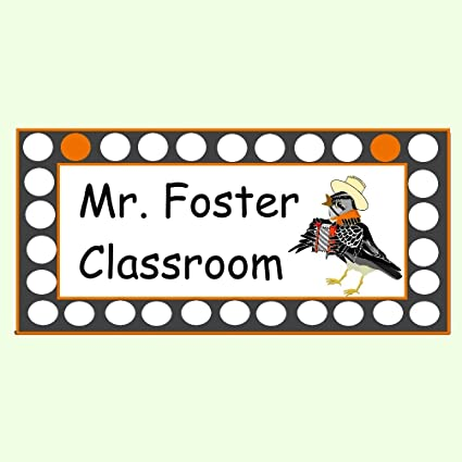 Amazon.com: Teacher Classroom Cartel para puerta, nombre ...